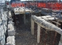 Demolizione di travi e pilastri al 5° piano